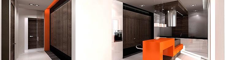 projekty wnętrza komfortowej kuchni