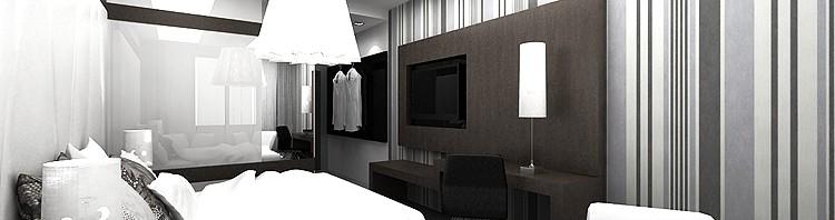 luksusowe wnętrze pokoju hotelowego