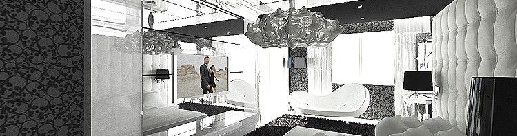 nowoczesna aranżacja wnętrza sypialni