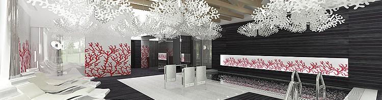 projekt wnętrza luksusowego basenu