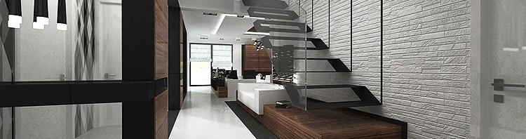 schody we wnętrzu nowoczesnego domu