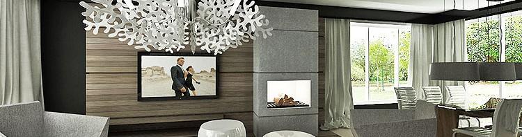luksusowe wnętrze salonu i jadalni