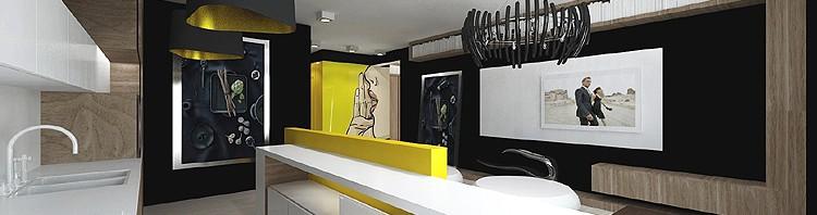 projekt luksusowego wnętrza apartamentu