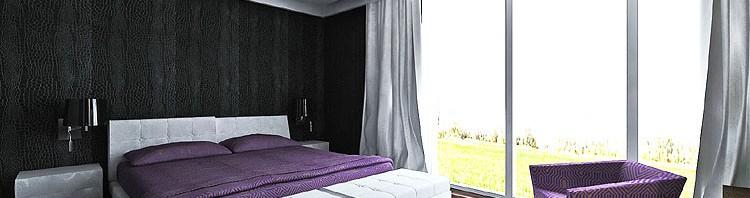 projekty wnętrza luksusowej sypialni